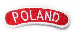 POLAND badge - red background