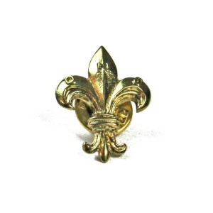 Polish fleur-de-lis - metal badge - gold