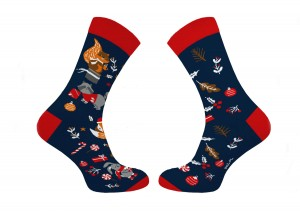 Colourful Christmas socks - asymmetric