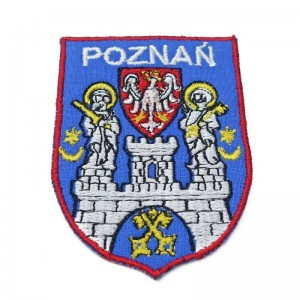 Coat of arms of the Poznań city scout troops - embroidered