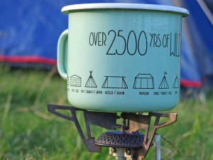 Enamel mug 400ml Tents - Over 2500 yrs of wild camping