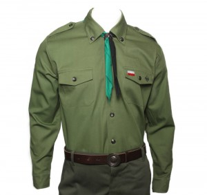 Scout uniform of the Polish Scouting Association, outfit for a boy scout - men's scout shirt