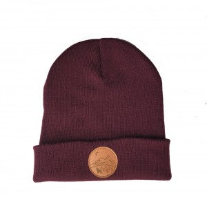 Mountains and the wolf Beanie - winter hat